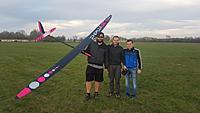 Name: IMG-4444.JPG Views: 600 Size: 99.0 KB Description: L to R: Denis Skrabl, Grega Urbancic and Damjan Erbus after the first flight