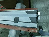 Name: CIMG4693.jpg Views: 386 Size: 154.5 KB Description: Rohacell in the mold and rough peel ply on the sper