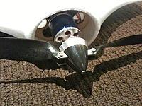 Name: IMG_2769.jpg Views: 140 Size: 277.0 KB Description: Motor mounted with folding pusher prop 13 x 6.5