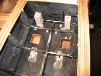 Name: Chris Craft Drive 003.jpg Views: 292 Size: 120.3 KB Description: The little cubes of wood in front of the rib provided a pivot point for the plywood stut mounts.