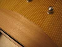 Name: Chris Craft Hull 019.jpg Views: 336 Size: 74.2 KB Description: Shot of the decking after being filles with Elmers wood filler.