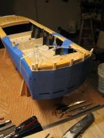 Name: Chris Craft Hull 021.jpg Views: 469 Size: 83.7 KB Description: Tape is one method for holding veneer in place while the epoxy dries.