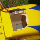 Same with cowling installed. Cowling was trimmed to accommodate the battery pack.