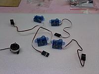 Name: My Build log UAV1.jpg Views: 183 Size: 143.5 KB Description: the 10g motor with the micro servos