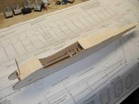 """Name: Photo_16.jpg Views: 397 Size: 87.7 KB Description: Some 1/16"""" balsa applied with the grain at 90 degrees to the length closes up the fuselage."""