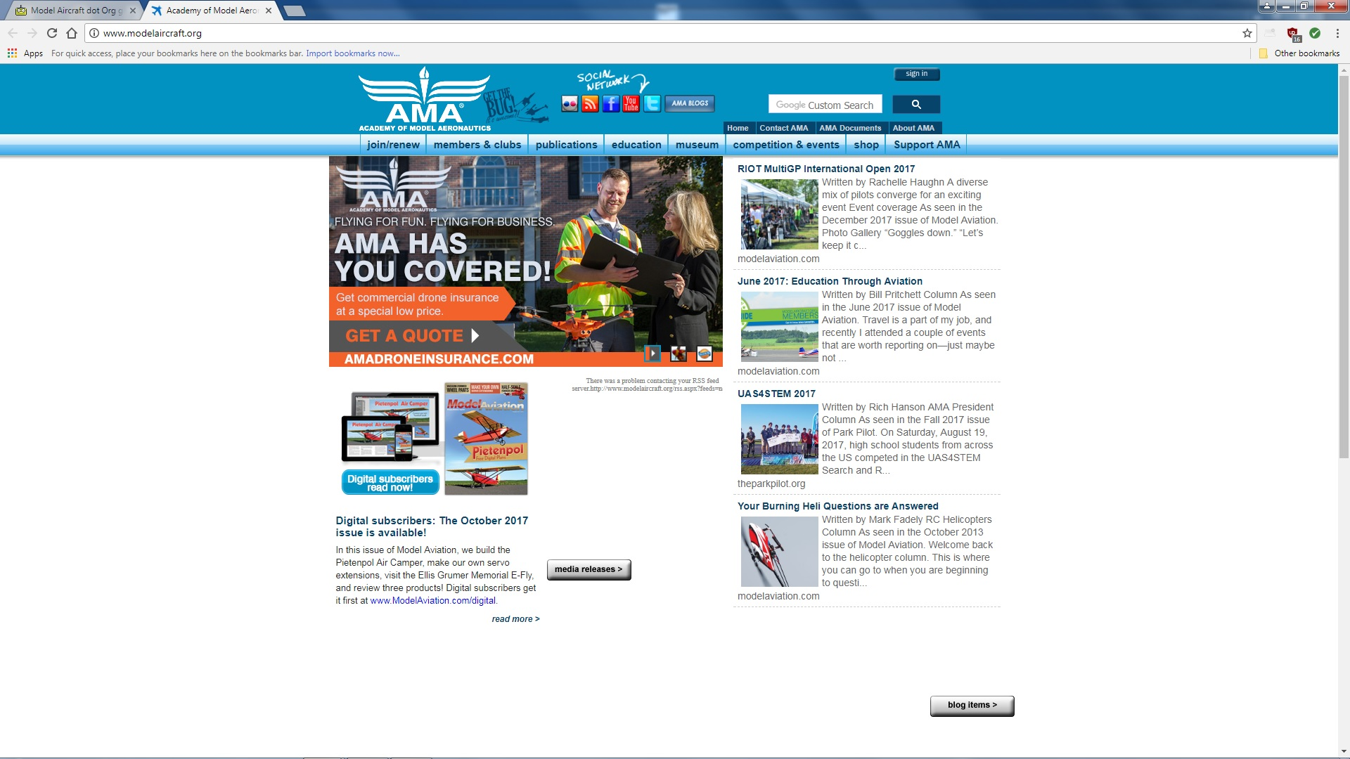 Model Aircraft dot Org goes to GoDaddy page - RC Groups