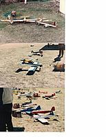 Name: RC16.jpg Views: 13 Size: 525.7 KB Description: My Eaglet, X-Ray, Dad's Cowboy, my Little Stick  My 1st Scorpion, K&B 61  Mini Joy Stick, P-Stinger, Kougar (Swaney planes), my Skooter 2 and Kougar, fun fly pic.