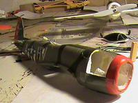 Name: DSC04698.jpg Views: 240 Size: 45.8 KB Description: This was a RTF P-47. All the stock gear and motor has been removed for this mod.