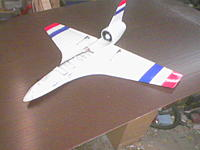 Name: 2.1.jpg Views: 178 Size: 41.7 KB Description: This was my first scratch built EDF with a 70mm Minifan at about 2kw. Used A123 cells because the lipos at the time were junk. 2007. I have some video of 150mph passes with it.