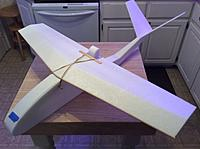 """Name: IMG_1139.JPG Views: 1 Size: 1.14 MB Description: This is the original prototype. It has a 35.25"""" wingspan. Elevators are not on there."""