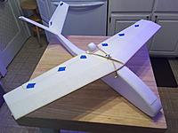 """Name: IMG_2063.jpg Views: 1 Size: 570.7 KB Description: This is the resized version prototype at ~85%. I was able to add an inch to each wingtip after resizing giving a 32"""" span."""