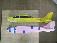 Name: kdk_1369.jpg Views: 963 Size: 153.2 KB Description: The folded fuselage has much cleaner lines since the glues joints are entirely hidden aft of the wing on all four corners.