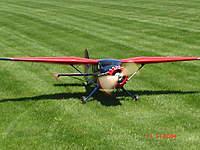 Name: Stinson 006.jpg Views: 651 Size: 40.0 KB Description: Top Flite SR-9.  24Lbs. US-41cc for power. Flies like a big trainer