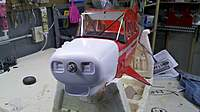 """Name: 2010-12-21_12-01-06_771.jpg Views: 244 Size: 54.7 KB Description: Cowl has a detachable top cover. Not easy getting it light up properly. Still a little """"Cockeyed"""" here. Sand, a bit, put her back, and sand some more."""