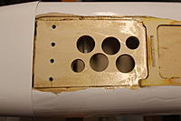 Name: Revolver Repaired.JPG Views: 19 Size: 279.9 KB Description: Much stronger LG mounting plate, with the rear end of the plate epoxied into the third fuse bulk head.