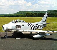 Name: F-86 on runway for photo op.jpg