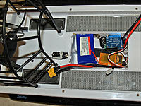 Name: P7203252_edited-1.jpg Views: 1878 Size: 209.5 KB Description: the seaking 35a water cooled esc and servo remounted to back deck..