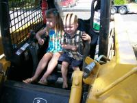 Name: S n J in Tractor.jpg
