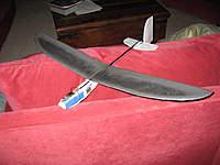 Name: V3.jpg Views: 265 Size: 67.7 KB Description: Version 3 - Pod (EPP foam), tailboom (carbon fiber tube), wings & tailfeathers (depron foam)