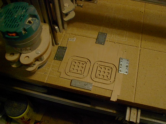 Name: IM004262.jpg Views: 1,284 Size: 87.4 KB Description: I wanted to make my own vibration mount so I drew them up on the CAD system and cut them out with the CNC.  I am due to replace the bit.  It is getting a bit dull.