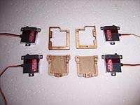 Name: WING-SERVO-3.jpg Views: 494 Size: 79.0 KB Description: Servo mounts. MKS on top, 2.3 grams Mine on bottom, 2.25grams