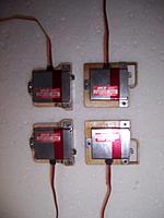 Name: WING-SERVO-4.jpg Views: 144 Size: 77.6 KB Description: Servo mounts. MKS on top, 2.3 grams Mine on bottom, 2.25grams
