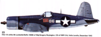 Name: Side Elevation.png Views: 459 Size: 88.4 KB Description: This will be the paint scheme that I am going to try and replicate.  This is the plane that kept popping up as Boyington's, named the 'Lulubelle'