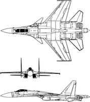 6mmFlyRC Profile Sukhoi Su-37 with Simple Thrust Vectoring