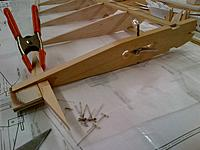 """Name: Armageddon Construction Inboard Wing Assembly 09-30-2013 (4).jpg Views: 45 Size: 948.0 KB Description: The center rib is shaped from a block of 1/2"""" bass"""