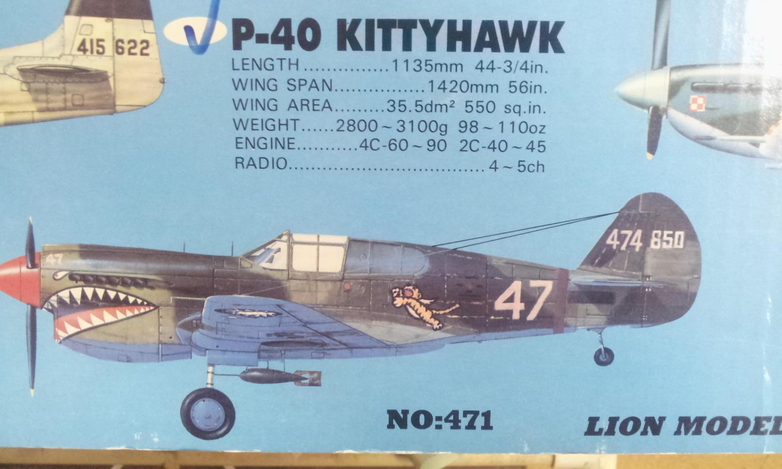 Name: Lion P-40 ARF 001.jpg Views: 104 Size: 139.7 KB Description: