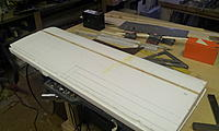 Name: Space Walker build 004.jpg Views: 219 Size: 127.6 KB Description: Core with spars inlaid, and marked for 3/32 sheeting.