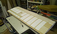 """Name: Space Walker build 006.jpg Views: 230 Size: 146.4 KB Description: Bottom side sheeted and stripped with 3/32"""" balsa."""