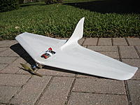 Name: SR #3--1.jpg Views: 215 Size: 309.7 KB Description: Flew 5 batteries out today.  This plane flys soooo good I can't wait to dress it up with some color.  Soon as I can get to my colored packing tape at home.