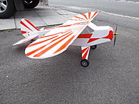 Name: IMGP1780.jpg Views: 138 Size: 300.6 KB Description: 300+ watts from 3 cell 2200 lipo= take off in less than 20'