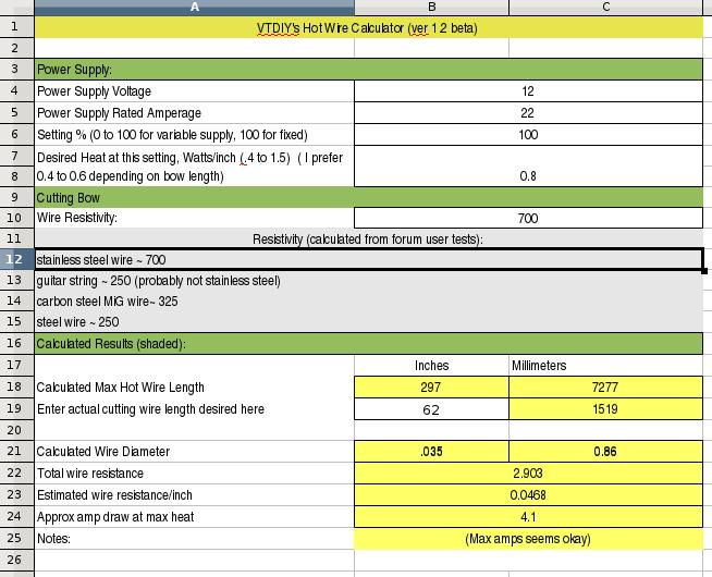 Nichrome Wire Heating Calculator Nichrome Wire Heater Calculations ...