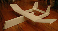 Name: SO-11Mod1.jpg Views: 985 Size: 13.4 KB Description: Awaiting gear, balancing and shortening the nose to a proper profile. Note the single large rudder and polyhedral wing