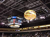 Name: 069.jpg Views: 147 Size: 116.9 KB Description: Hamburger flying just over the ice headed to north end of the arena to release a few coupons for free burgers.