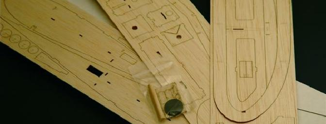 Balsa and plywood and vinyl — oh my! The kit is crisply laser-cut and comes together quickly.