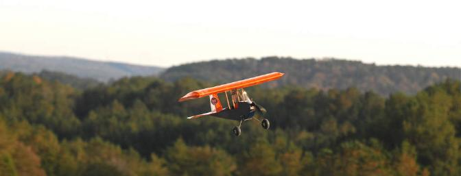The views from the Birmingham R/C Club are simply spectacular, and it is always a treat to fly there. They offer the perfect backdrop to some three-channel R/C fun. Fall, football and FredE: A winning combination.