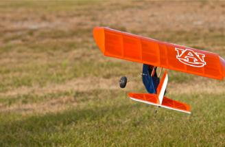 Backyard flyer? You betcha. You don't need a full soccer field to enjoy this plane, and a field half the size of that should offer plenty of real estate for it.