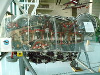 Name: P1010918.jpg Views: 268 Size: 110.6 KB Description: One of the mighty R-4360 radials.  Four rows of seven cylinders, 56 spark plugs, 3,000 hp.  And the Goose has eight.