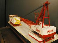 Name: Manson Crane Model_P1010058 copy.jpg Views: 265 Size: 49.8 KB Description: Finished Mason crane model commissioned by Gunderson Marine. By A. Eng and J. Streeb