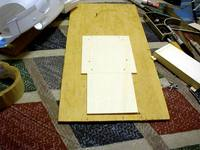 """Name: PDR_1217.jpg Views: 595 Size: 97.1 KB Description: The lower chassis plate made from 1/8 lite plywood 9"""" long and 4 1/2"""" wide"""