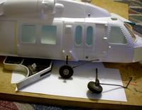 """Name: PDR_1234.jpg Views: 1239 Size: 44.2 KB Description: Landing gear Main rear strut made out or 1/8 music wire. Front strut made from 3/32 music wire. The two pieces are copper wire wrapped and then covered with JB Weld. 1"""" lite foam wheels. (weight of fuselage now with landing gear 267 grams (next to fi"""