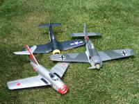 Name: P1000323.jpg Views: 237 Size: 213.9 KB Description: Alfa MIG-15, Alfa Corsair F4U-1, GWS Focke Wulf 190