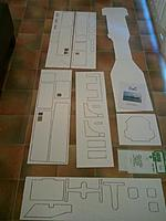 Name: 2012-06-29 16.45.30 (Medium).jpg Views: 119 Size: 88.6 KB Description: All the pieces, note the deck is nearly 1.5 metres long, each square in the floor is 25 cm.