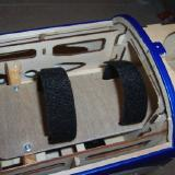 Tray installed with velcro straps.