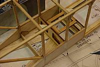Name: FuseFrame09A.jpg Views: 202 Size: 151.2 KB Description: The bottom of the forward fuse is supposed to be sheeted with 1/8 balsa but this would make it impossible to access anything.  Aft of the 1/2 bulkheads is 1/16 sheet to save weight
