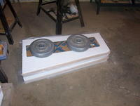 Name: DB 07.jpg Views: 152 Size: 72.6 KB Description: Cores back in the foam beds and weighted down until glue drys.