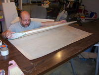 Name: db 12.jpg Views: 192 Size: 83.4 KB Description: Roll the core onto the sheeting.